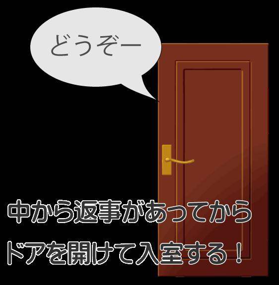 ドアを開けるタイミング