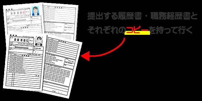 履歴書と職務経歴書のコピー